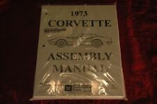 1973 CORVETTE C3 ASSEMBLY MANUAL 100'S OF PAGES OF DETAILS & ILLUSTRATIONS