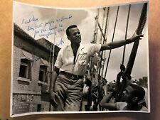 Harry Belafonte Very Rare Very Early Vintage Original Autographed 8/10 from 1957