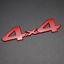 Car Rear Tailgate Sticker Emblem Badge Decal 3D 4x4 Metal Logo Red Deacoration