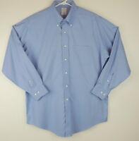 Brooks Brothers 16.5 Blue Dress Shirt Button Down 2/3 The Original POLO SHIRT D