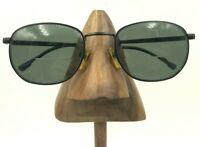 Vintage Tudor 601 Black Metal Oval Eyeglasses Sunglasses Frames Korea