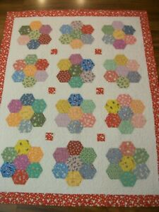 "48"" x 60"" Throw or Baby 30s Reproduction Feed/Flour Sack Prints 100% Cotton"