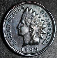 1888 INDIAN HEAD CENT - With LIBERTY - VF VERY FINE