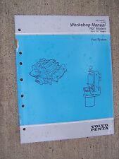 1995 Volvo Penta HU Stern Drive Engine Fuel System Workshop Manual EFI Ford  U