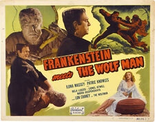 "Frankenstein Meets the Wolf Man Lobby Card Poster Replica 11x14"" Photo Print"