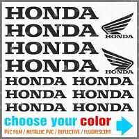 12x ADESIVI compatibile HONDA NC 700 750 X VFR 1200 CB 500 F CRF 1000 L CT