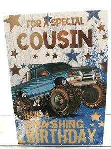 Special Cousin, Have A Smashing Birthday Card, Monster Truck Car