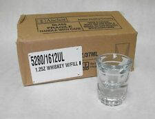 12x Anchor Hocking Whiskey Shot Glass 1.25oz w/ 1/2oz. Fill Line 5280/1612Ul