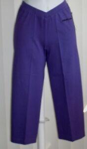 Capris Cotton Lycra Spandex Purple Gold's Gym Small