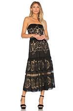 Twelfth Street by Cynthia Vincent $375 Flounce Midi Dress, Final Sale! Sz 0,2