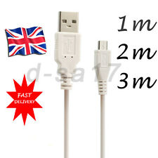 1m/2m/3m Micro USB Data Charger Cable Lead fr HTC One Motorola LG Amazon Kindle