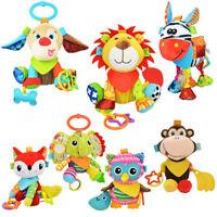 Multi Functional Baby Soft Doll Toys Rattle Animal Style Design Infant Stroller