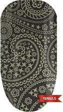 Nail WRAPS Nail Art Water Transfers Decals - Paisley Stars - W048