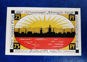 SCHMÖLLN NOTGELD 75 PFENNIG 1921 NOTGELDSCHEIN (12955)