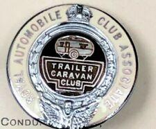 RAC ROYAL AUTOMOBILE CLUB ASSOCIATION TRAILER CARAVAN ENAMEL LAPEL PIN BADGE