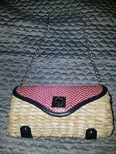 Charming Charlie straw purse handbag