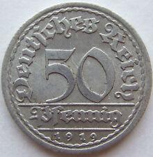 TOP! 50 REICHSPFENNIG 1919 F in VORZÜGLICH / STEMPELGLANZ SELTEN !!!