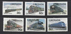 GRENADA 1120 - 1125 - MNH - 1982 - GREAT TRAINS