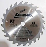 "Milwaukee 48-40-4108 6-1/2"" x 24 Teeth Cordless Thin Kerf Saw Blade (Bulk)"