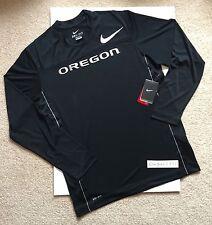 Nike Dri-Fit Oregon Ducks Velocity L/S Speed Black Training Shirt Men's Size L