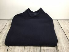 J.CREW Men's Lambswool Blue Long Sleeve Crew Neck Sweater Size L