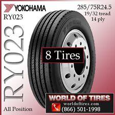 Yokohama RY023 285/75R24.5 8 Tires $435 Each FREE SHIPPING