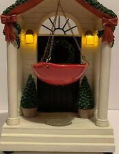 Yankee Candle Holiday Front Door with Wreath Hanging Tart Wax Warmer Lights Up