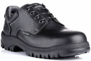 Safety Shoes, Black Goliath, Dual Density Rubber Sole & Midsole, UK 5 to 12
