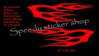 LARGE flames x2 vinyl graphics car side stickers decals,tribal fun racing A313
