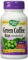 Nature's Way Green Coffee Bean Standardized Vcaps, 500 mg, 60 Ct (Pack of 3)