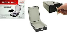 PORTABLE TRAVEL BOX SAFE BOX TIN FOR CARAVAN CAR LORRY BOAT WALL MOUNTED CASH