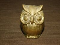 "VINTAGE 2 1/2"" HIGH MINI BRASS OWL"