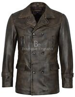 Men's Vintage Leather Jacket Dirty Brown WW2 Inspired 100% Real Leather  Dr-Who