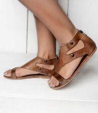03193d4f20b4 Bed Stu Soto Sandals Distressed Leather Flats Classic Boho Brown Rustic 10  New
