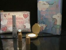 TOO FACED UNICORN SURVIVAL KIT~MYSTICAL LIP+LTD HIGHLIGHTER IN COLLECTIBLE BAG!!