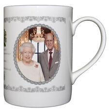 Queen Elizabeth II Platinum Wedding Anniversary Bone China Mug