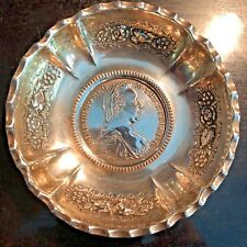 MID 19TH CENTURY MARIA THERESA THALER SILVER NUT BOWL 1780 RE-STRIKE