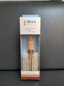 Ibiza Hair B5 Round Hair Brush - NEW IN BOX - Boar Bristles Add Shine Volume