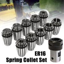10PCS ER16 Spring Collet Set+Motor Shaft 8mm Extension Rod Holder CNC Milling