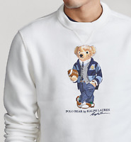 Polo Ralph Lauren Preppy Suit Rugby Bear Royal Crest Pullover Sweater Sweatshirt