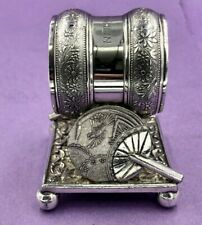 More details for meriden 208 silver plated american napkin ring with fans