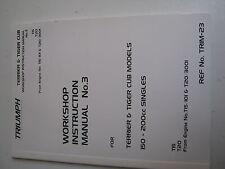 MIS06/3 Triumph Tiger Cub Workshop Instruction Manual No3