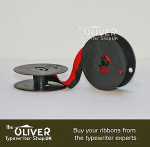 1 x /'OLIVER PORTABLE 4/' *BLACK//RED* HIGH QUALITY TYPEWRITER RIBBON