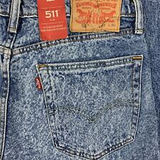 Levi's Mens 511 Slim Destroyed Acid Wash Ripped Patched Jean Size 32x30 NWT