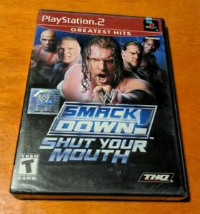 WWE SmackDown! Shut Your Mouth Sony PlayStation 2 PS2 THQ  Jakks Pacific  Yuke's