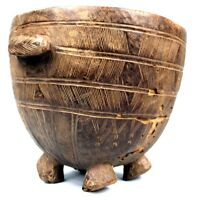 Arte Africano Arti Tribale - Antico Recipiente Non-Comuni Dan Per Re Piedi -