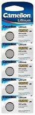 5 x Camelion CR1616 1616 3V Lithium Car Key Fob Coin Batteries Long Expiry Date