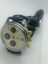 Vtg Watch Paul Picot Telemark Automatic Chronograph Lemania 5100 Man
