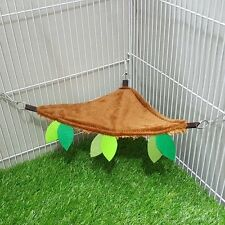 2 Pcs Hanging Triangle Sheet Sugar Glider Accessory Forest Pattern Brown Color