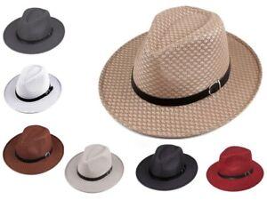 Fedora Mesh Style Summer Men Women Beach Vintage Style Wide Brim Panama Upturn